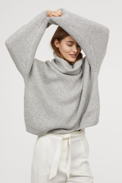 The MJ Elle_Knit Sweaters Under $100_H&M Ribbed Turtleneck Sweater