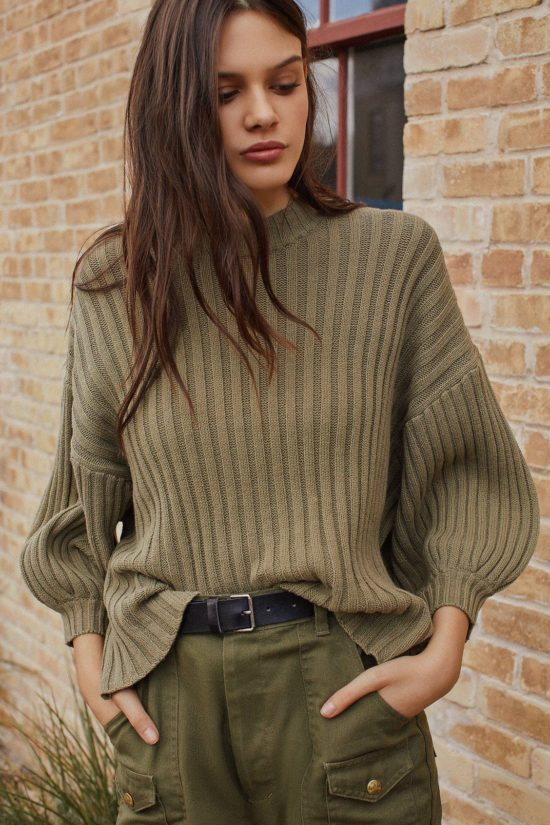 The MJ Elle_Knit Sweaters Under $100_UO Lou Mock-Neck Pullover Sweater