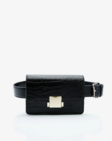 The MJ Elle_Belt Bags_Le Chateau Croco Embossed Belt Bag
