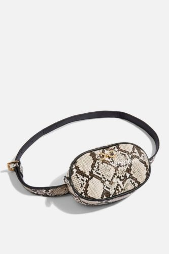 The MJ Elle_Belt Bags_Topshop Karla Snake Belt Bag