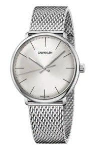 The MJ Elle_Valentine's Gifts for Her_Calvin Klein High Noon Silver Mesh Watch