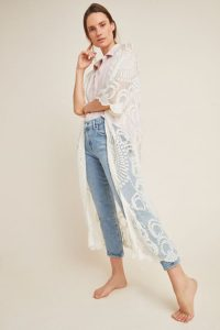 The MJ Elle_Kimonos For Summer_Anthropologie Angelica Lace Duster Kimono