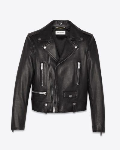 The MJ Elle_Leather Jackets_Saint Laurent Motorcycle Jacket in Lambskin