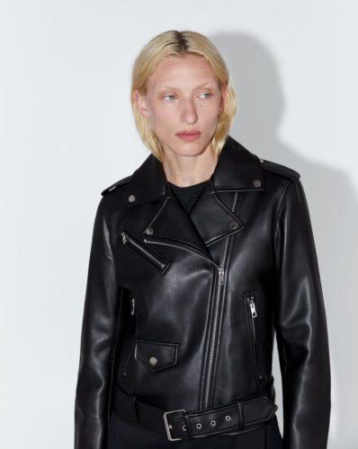The MJ Elle_Leather Jackets_Zara Faux Leather Biker Jacket