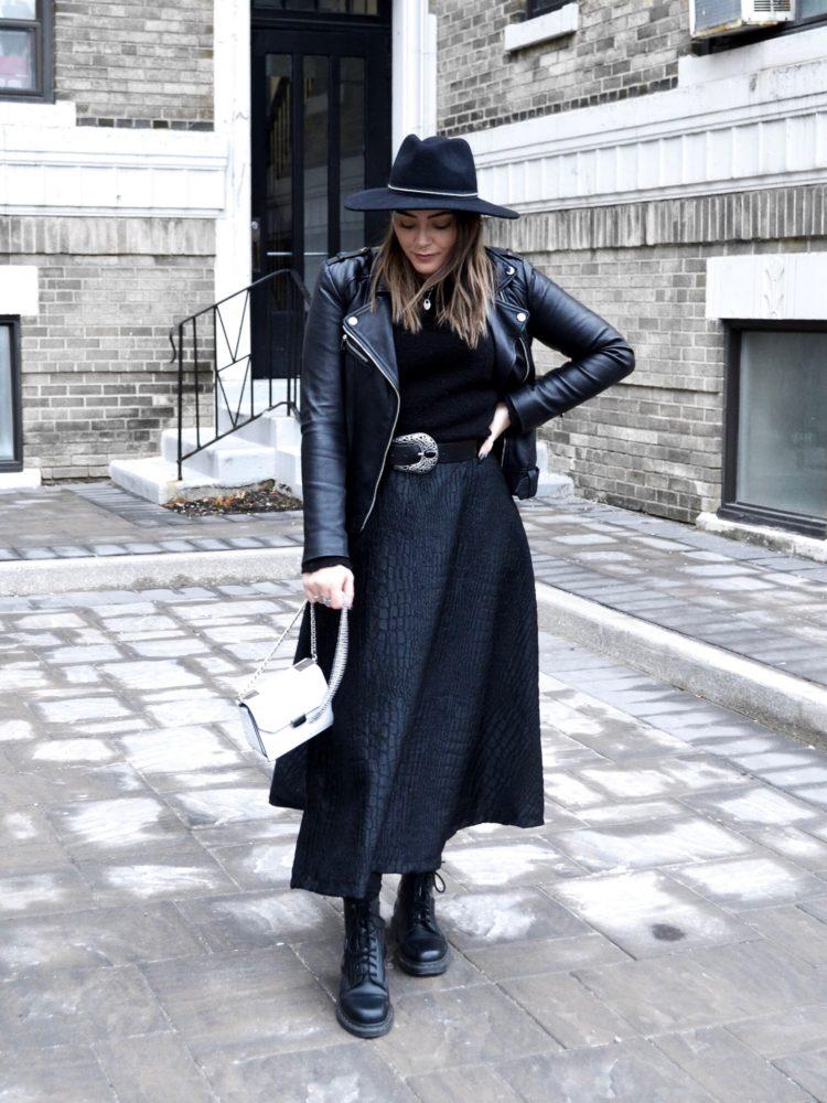 Shop My Look: Kate Stoltz Snakeskin Midi Skirt